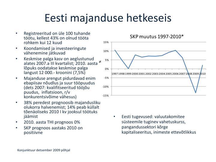 Eesti majanduse hetkeseis