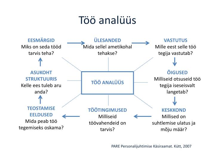 Töö analüüs