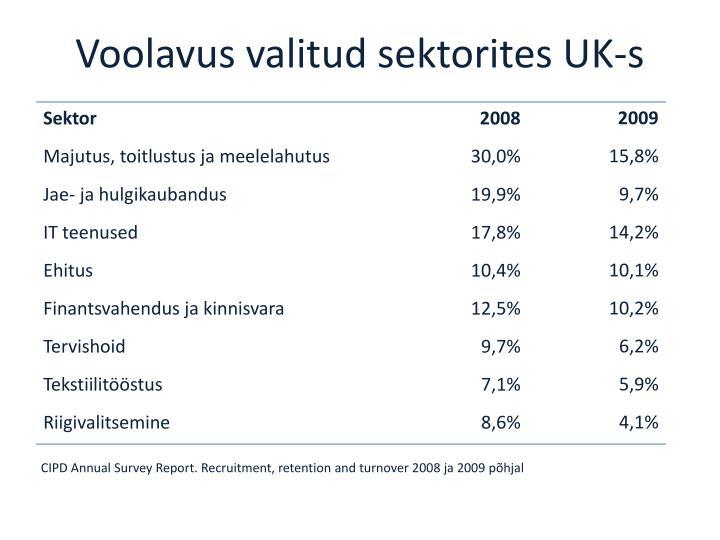 Voolavus valitud sektorites UK-s