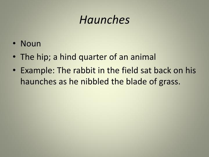 Haunches