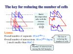 the key for reducing the number of cells
