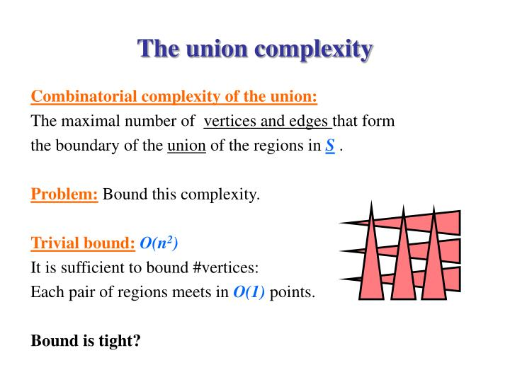 The union complexity