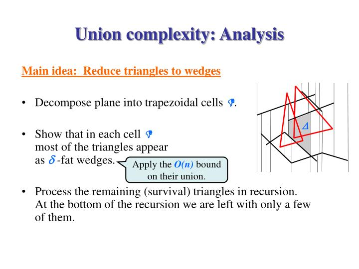 Union complexity: Analysis