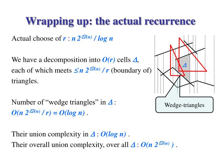 Wrapping up: the actual recurrence