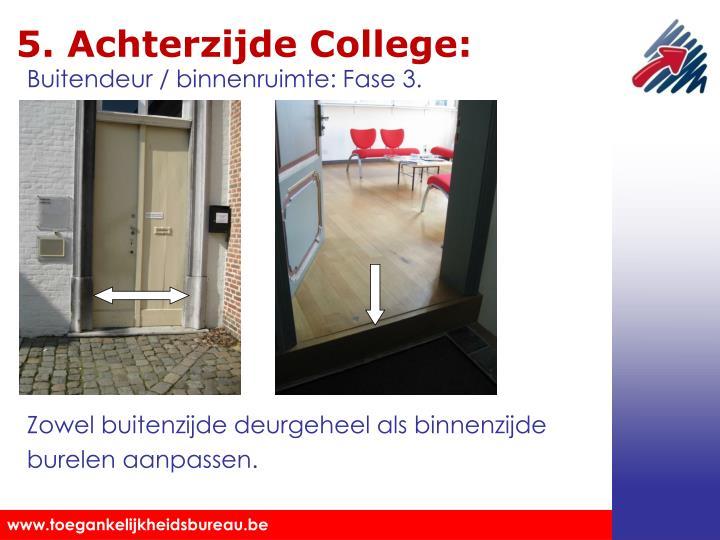 5. Achterzijde College:
