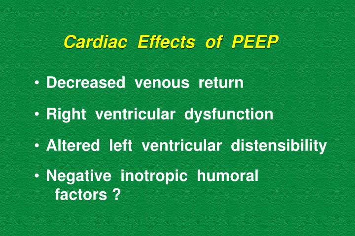 Cardiac  Effects  of  PEEP