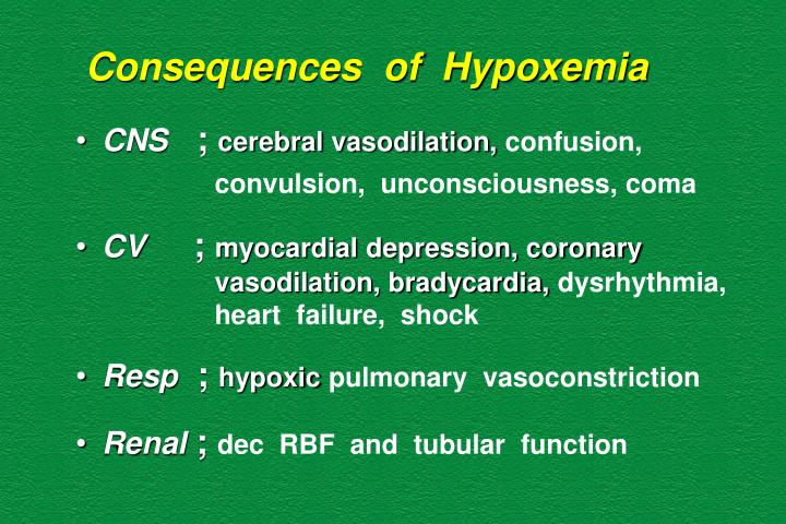 Consequences  of  Hypoxemia