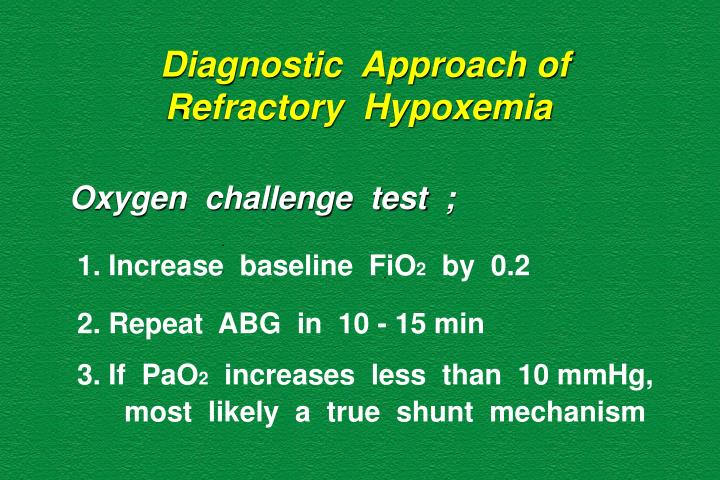 Diagnostic  Approach of    Refractory  Hypoxemia