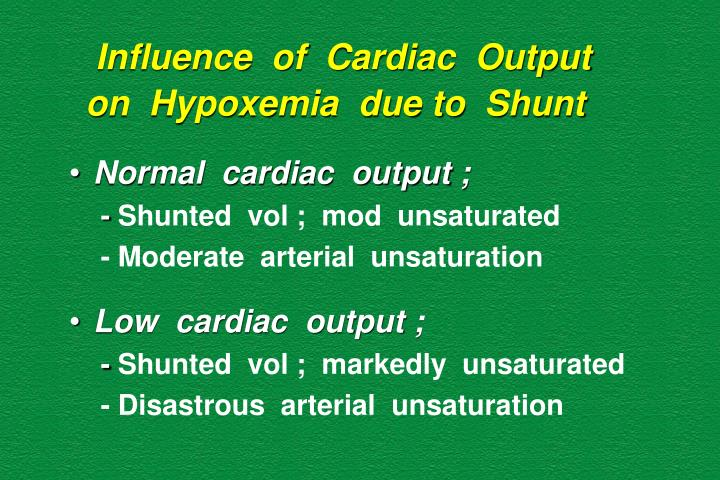 Influence  of  Cardiac  Output