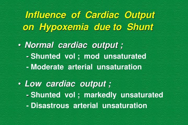 Influence  of  Cardiac  Output