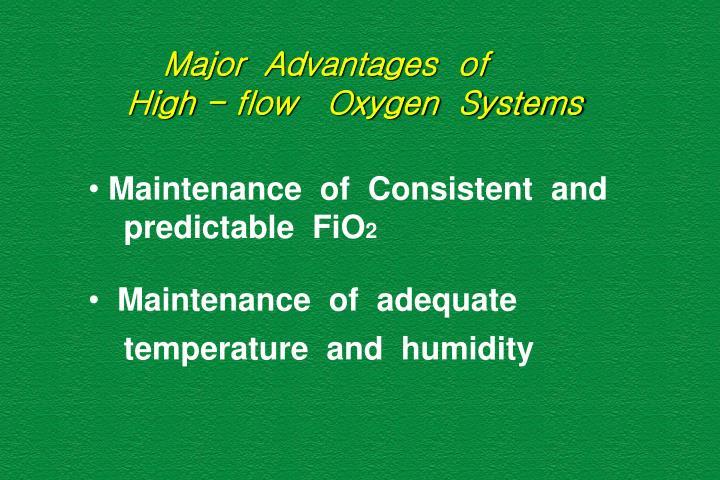 Major  Advantages  of