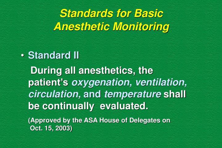 Standards for Basic