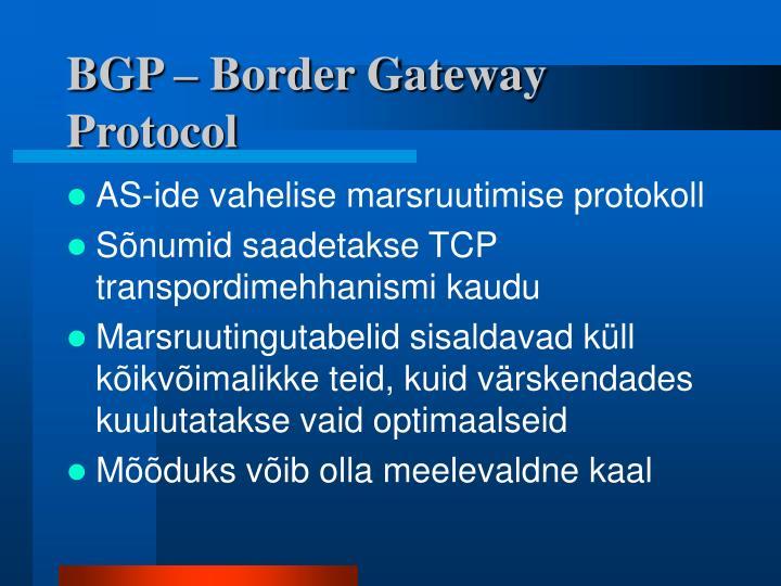 BGP – Border Gateway Protocol