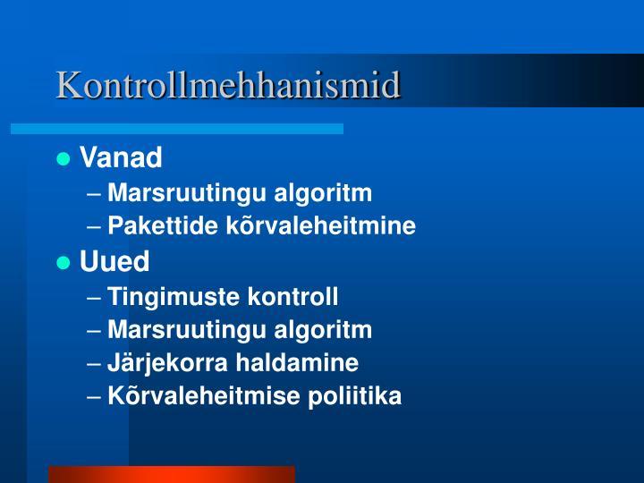 Kontrollmehhanismid