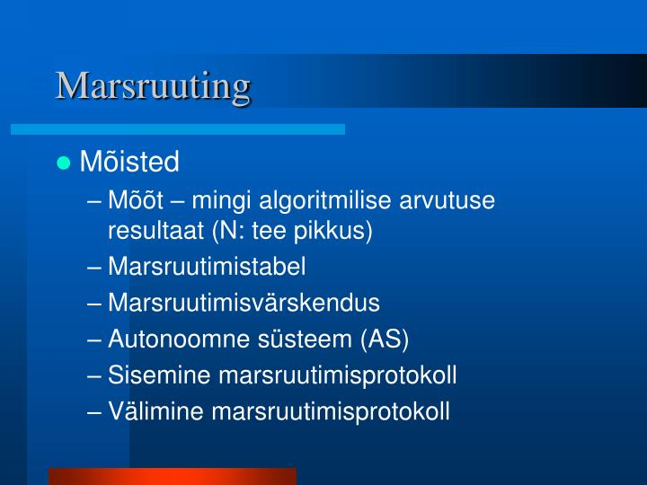 Marsruuting