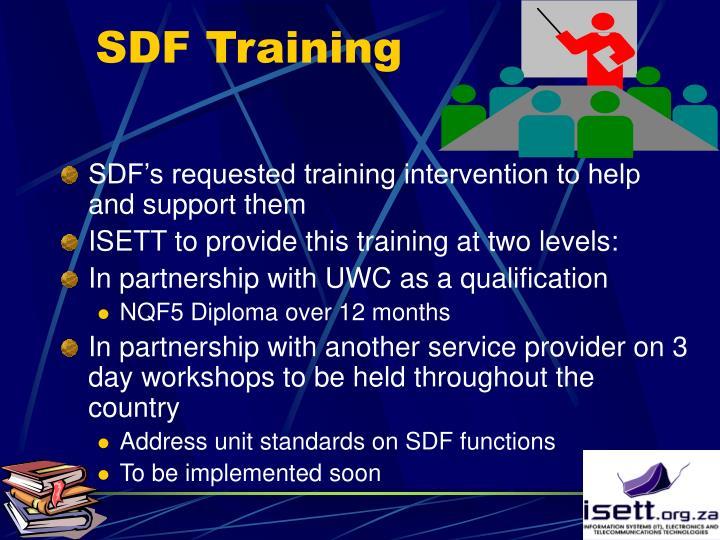 SDF Training