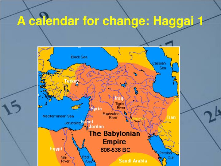 A calendar for change haggai 1