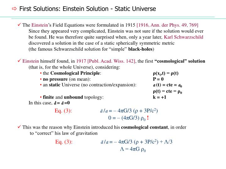 First Solutions: