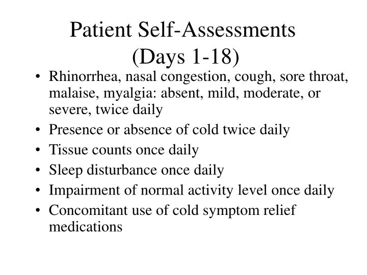 Patient Self-Assessments