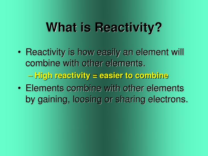 What is Reactivity?