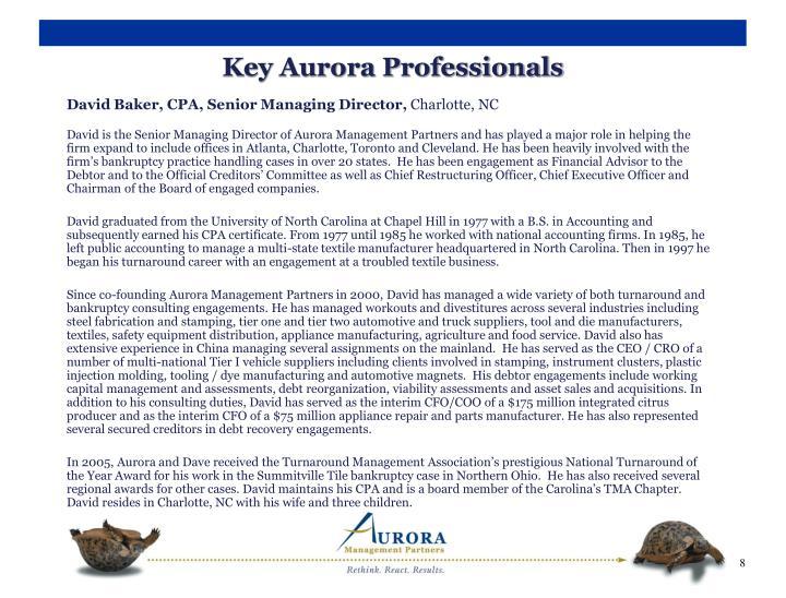 Key Aurora Professionals