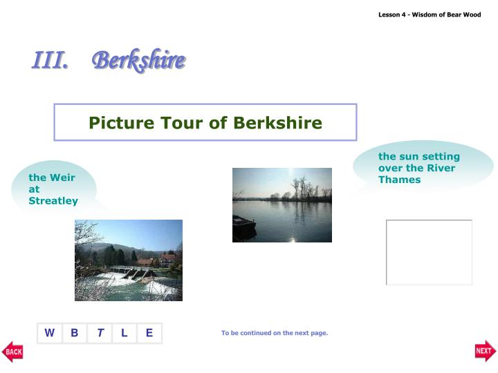 Picture Tour of Berkshire