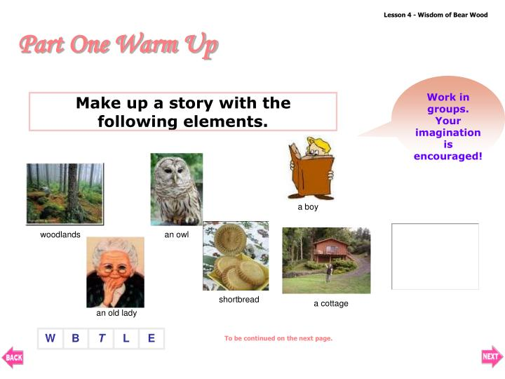 Make up a story with the following elements.