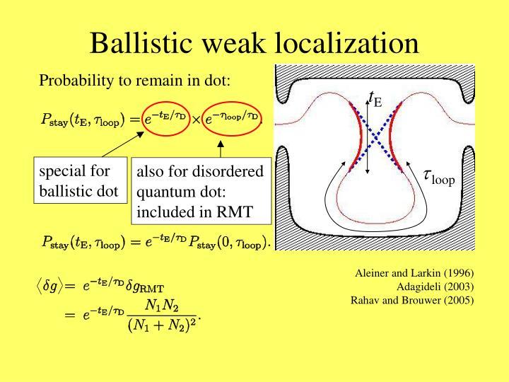 Ballistic weak localization