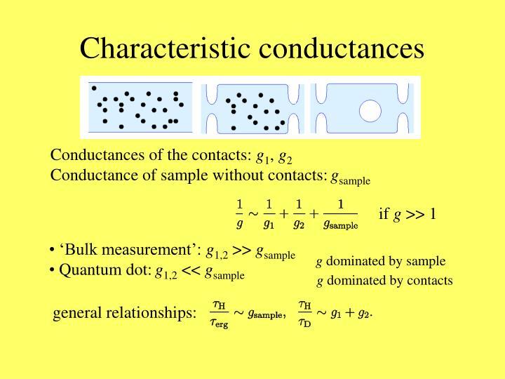 Characteristic conductances