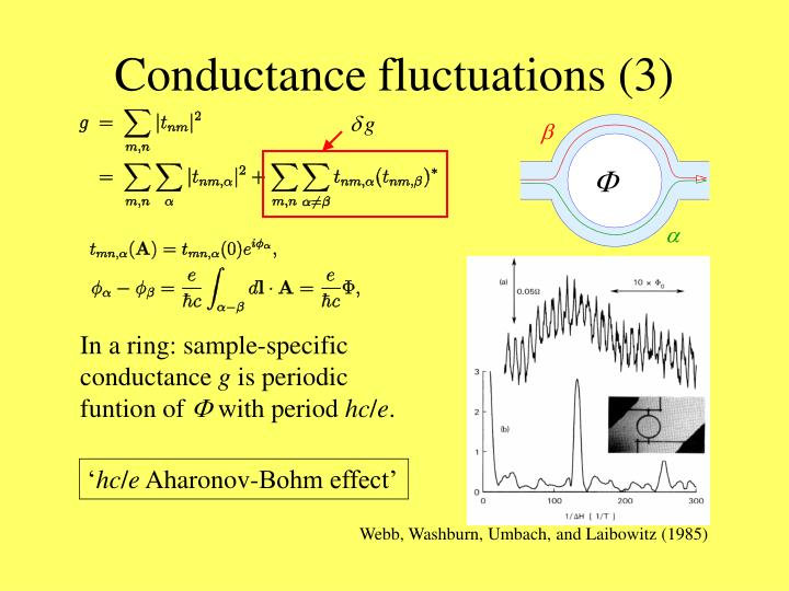 Conductance fluctuations (3)