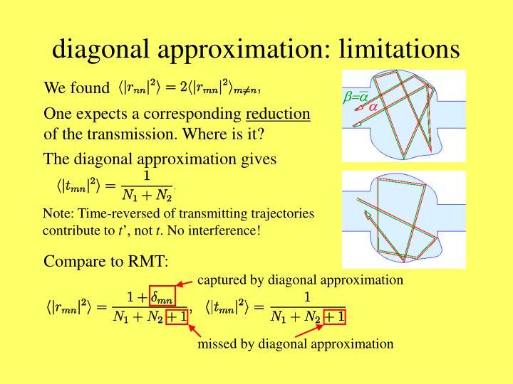 diagonal approximation: limitations