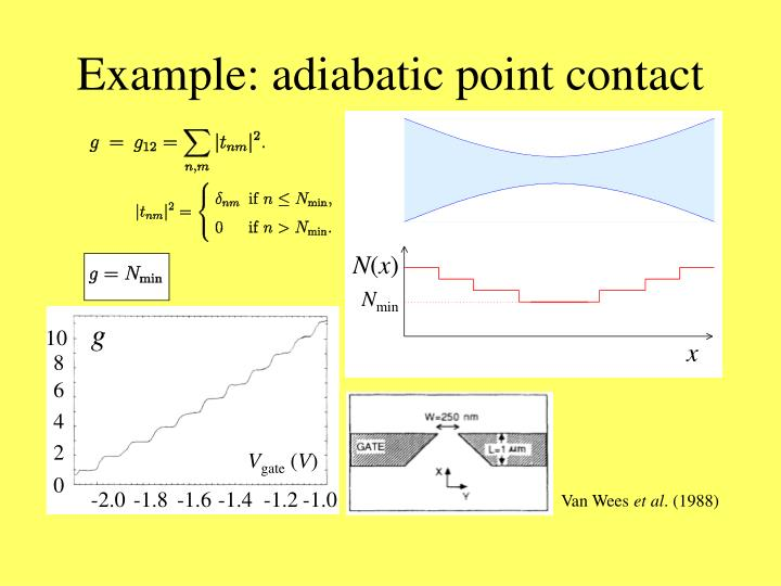 Example: adiabatic point contact