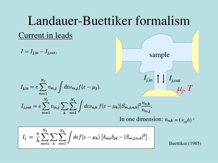 Landauer-Buettiker formalism
