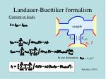 landauer buettiker formalism2