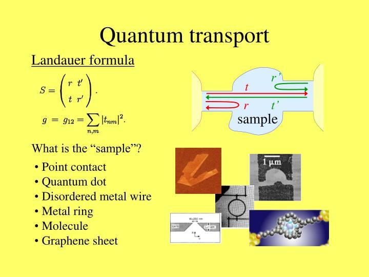 Quantum transport