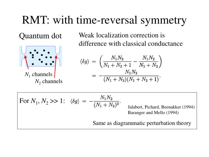 RMT: with time-reversal symmetry