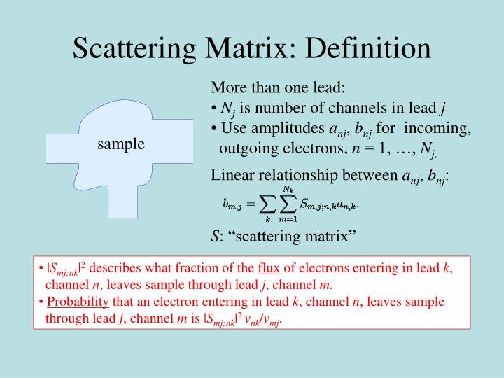Scattering Matrix: Definition
