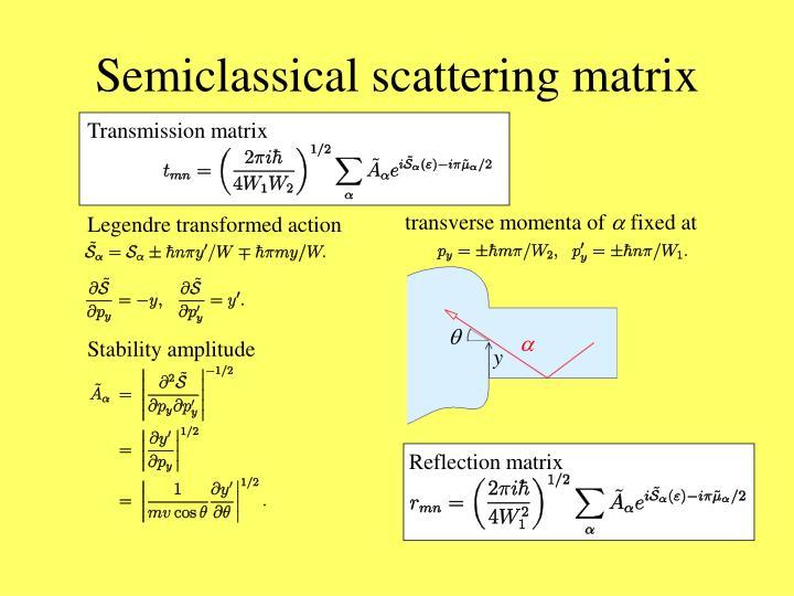 Semiclassical scattering matrix
