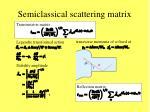 semiclassical scattering matrix1
