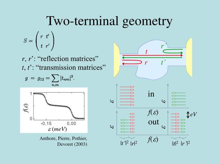 Two-terminal geometry
