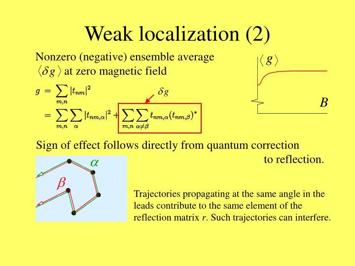Weak localization (2)
