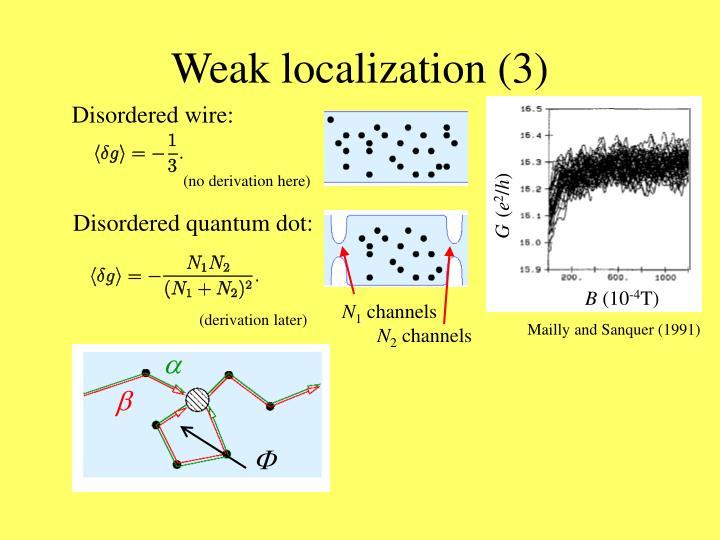 Weak localization (3)