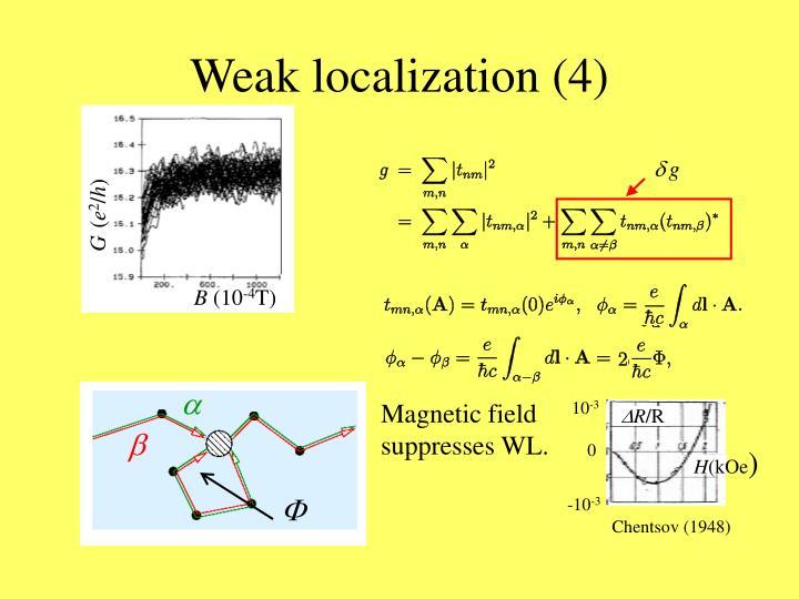 Weak localization (4)