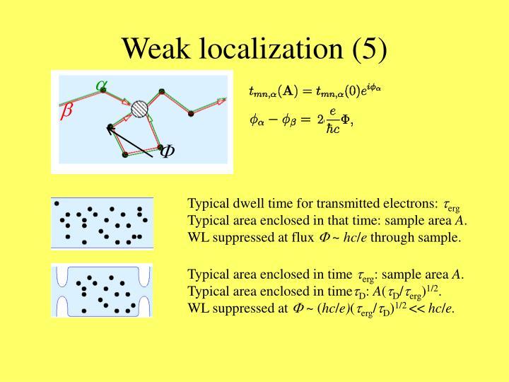 Weak localization (5)