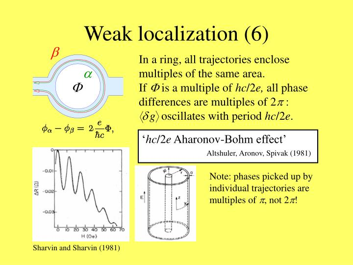Weak localization (6)
