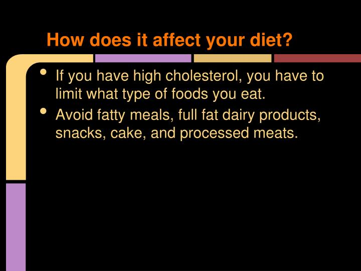How does it affect your diet?