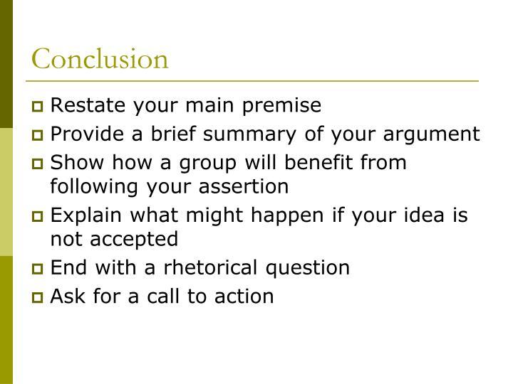 refutation of opposition essay