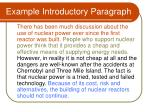 example introductory paragraph