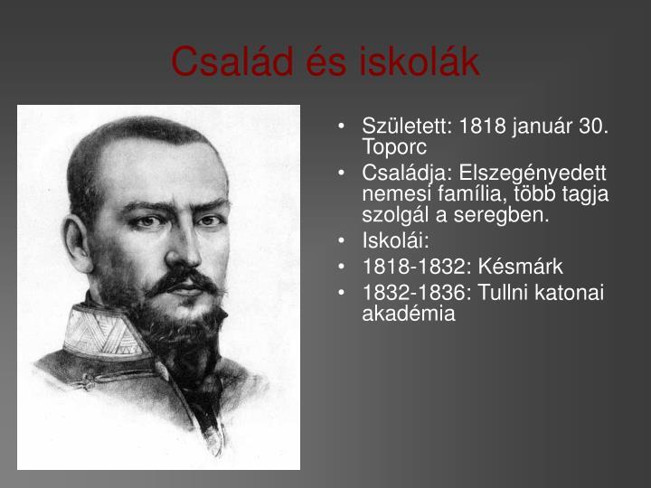 Született: 1818 január 30. Toporc