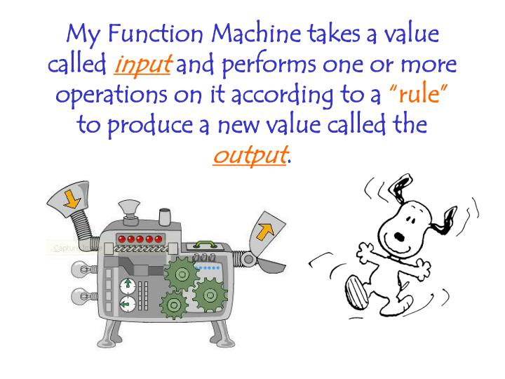 My Function Machine takes a value called